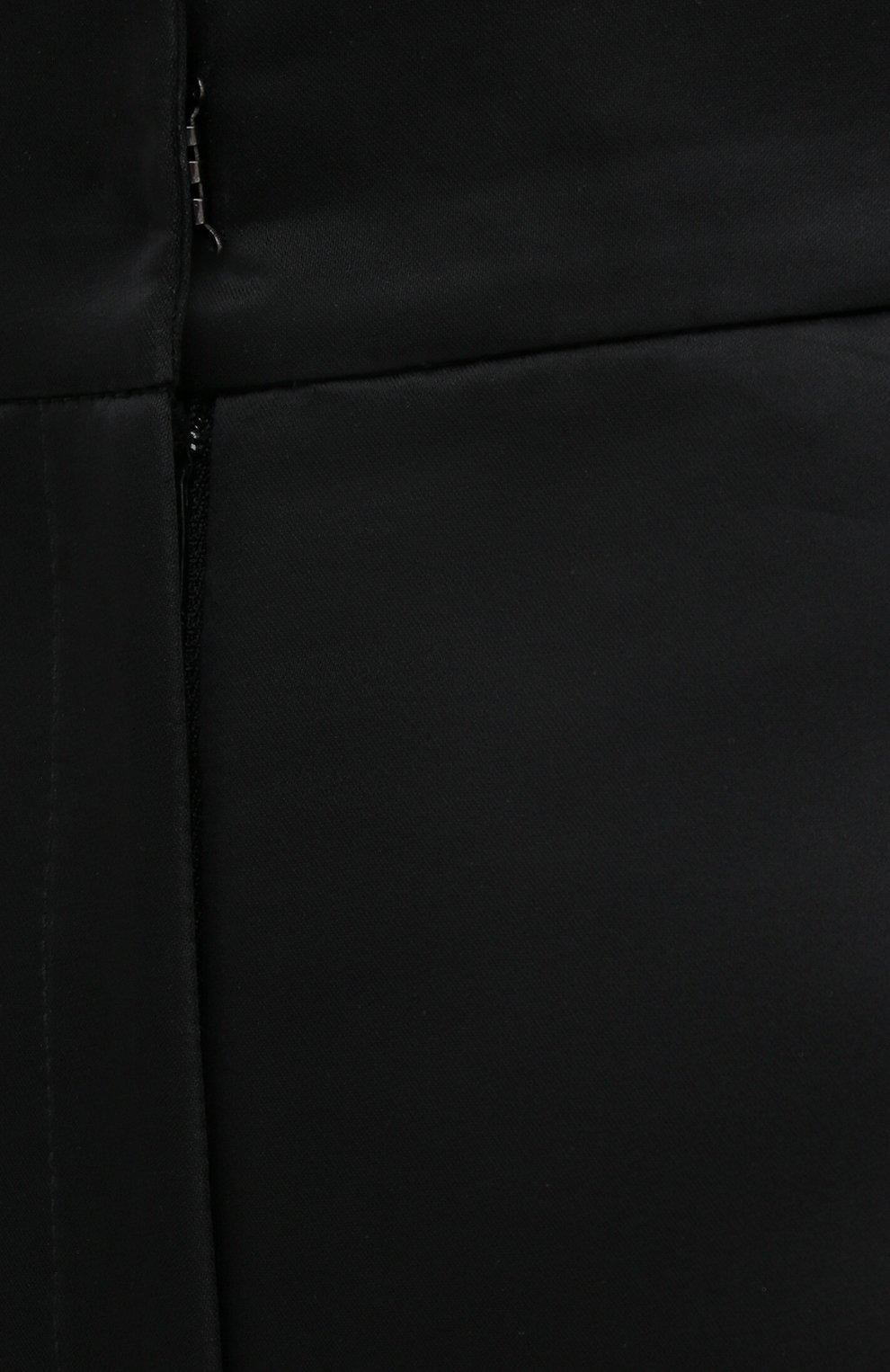 Женские шорты KALMANOVICH черного цвета, арт. FW20K10 | Фото 5 (Женское Кросс-КТ: Шорты-одежда; Материал внешний: Синтетический материал; Кросс-КТ: Широкие; Стили: Классический; Длина Ж (юбки, платья, шорты): До колена)