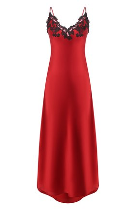 Женская шелковая сорочка LA PERLA красного цвета, арт. 0019226/0290 | Фото 1