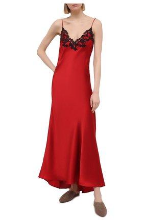 Женская шелковая сорочка LA PERLA красного цвета, арт. 0019226/0290 | Фото 2