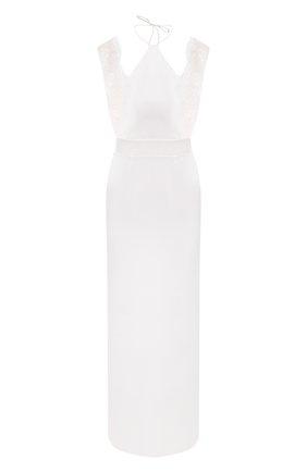 Женская шелковая сорочка LA PERLA белого цвета, арт. 0040260 | Фото 1