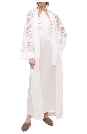 Женская шелковая сорочка LA PERLA белого цвета, арт. 0040260 | Фото 2