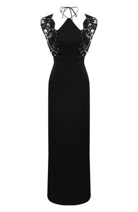 Женская шелковая сорочка LA PERLA черного цвета, арт. 0040260 | Фото 1