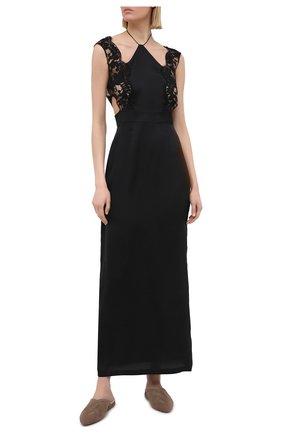 Женская шелковая сорочка LA PERLA черного цвета, арт. 0040260 | Фото 2