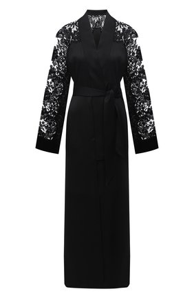 Женский шелковый халат LA PERLA черного цвета, арт. 0040270 | Фото 1