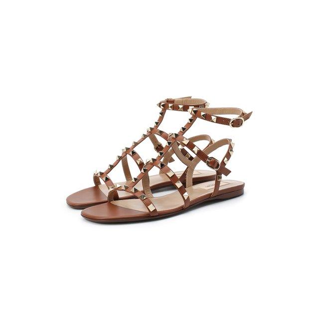 Кожаные сандалии Valentino Garavani Rockstud Valentino