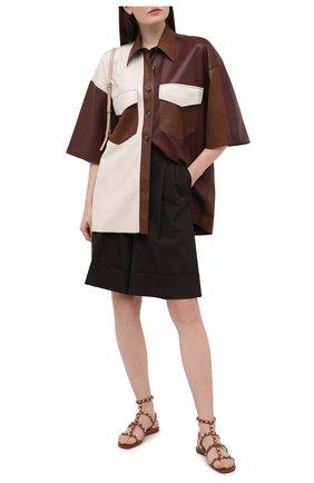 Женские кожаные сандалии valentino garavani rockstud VALENTINO коричневого цвета, арт. VW2S0A05/V0D | Фото 2