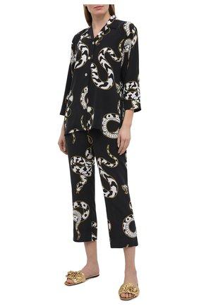 Женская шелковая пижама OLIVIA VON HALLE черно-белого цвета, арт. PS2119 | Фото 1