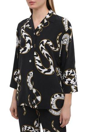 Женская шелковая пижама OLIVIA VON HALLE черно-белого цвета, арт. PS2119 | Фото 2