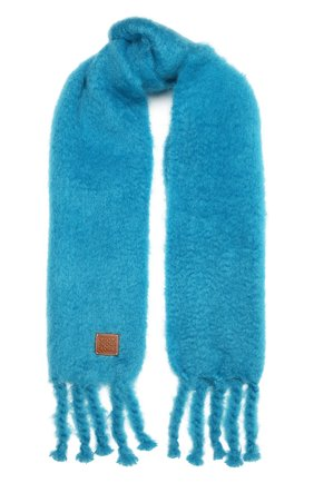 Женский шарф LOEWE бирюзового цвета, арт. F000914X05 | Фото 1