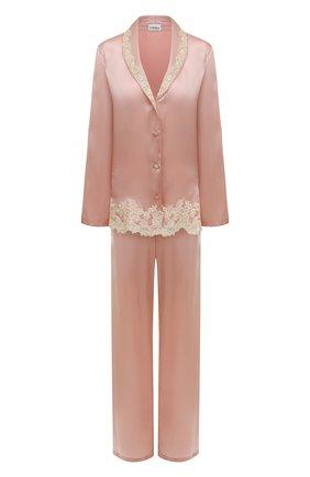 Женская шелковая пижама LA PERLA розового цвета, арт. 0051240 | Фото 1