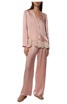 Женская шелковая пижама LA PERLA розового цвета, арт. 0051240 | Фото 2