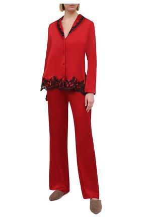Женская шелковая пижама LA PERLA красного цвета, арт. 0051240 | Фото 1