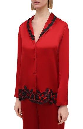 Женская шелковая пижама LA PERLA красного цвета, арт. 0051240 | Фото 2