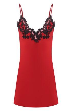 Женская шелковая сорочка LA PERLA красного цвета, арт. 0019227/0290 | Фото 1