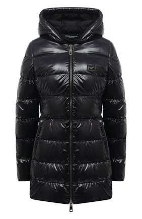 Женский пуховая куртка DOLCE & GABBANA черного цвета, арт. F9I55T/G7TTL | Фото 1