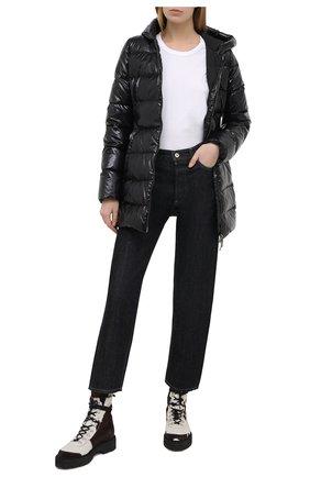 Женский пуховая куртка DOLCE & GABBANA черного цвета, арт. F9I55T/G7TTL | Фото 2