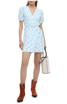 Женское платье из вискозы FAITHFULL THE BRAND голубого цвета, арт. FF1619-LEV | Фото 2