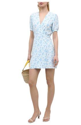 Женское платье из вискозы FAITHFULL THE BRAND голубого цвета, арт. FF1627-RCF | Фото 2