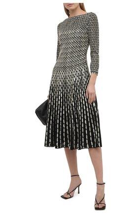 Женское платье ST. JOHN черно-белого цвета, арт. K1210K2 | Фото 2