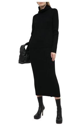 Женский шерстяной свитер ST. JOHN черного цвета, арт. K5110A2   Фото 2