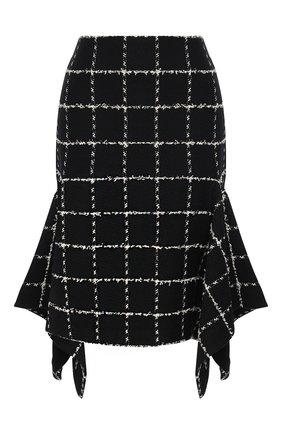 Женская юбка из шерсти и хлопка ST. JOHN черно-белого цвета, арт. K7110C3   Фото 1