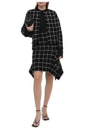 Женская юбка из шерсти и хлопка ST. JOHN черно-белого цвета, арт. K7110C3   Фото 2