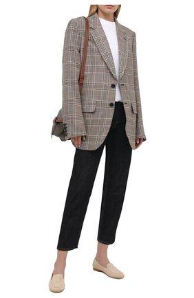 Женские замшевые лоферы KITON бежевого цвета, арт. D51801X08T52 | Фото 2 (Материал внутренний: Натуральная кожа; Каблук высота: Низкий; Подошва: Плоская; Материал внешний: Замша)