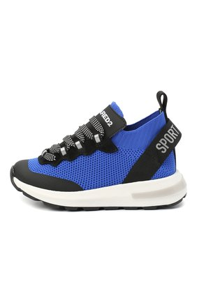 Детские кроссовки DSQUARED2 синего цвета, арт. 66936/T0MAIA/CR0STA/SCUBA/28-35 | Фото 2