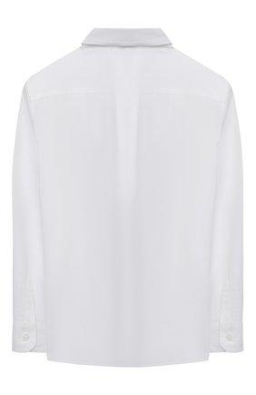 Детская хлопковая рубашка DOLCE & GABBANA белого цвета, арт. L43S14/G7YFM/8-14 | Фото 2 (Материал внешний: Хлопок; Рукава: Длинные; Ростовка одежда: 10 - 11 лет | 140 - 146см, 12 лет | 152 см, 8 лет | 128 см)