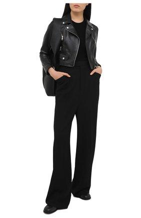 Женская кожаная куртка DOLCE & GABBANA черного цвета, арт. F9I26L/HULF5 | Фото 2