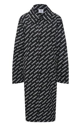 Женский плащ VETEMENTS черного цвета, арт. UE51C0200B 2603/W | Фото 1