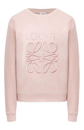Женский хлопковый свитшот LOEWE розового цвета, арт. S359341XA8 | Фото 1