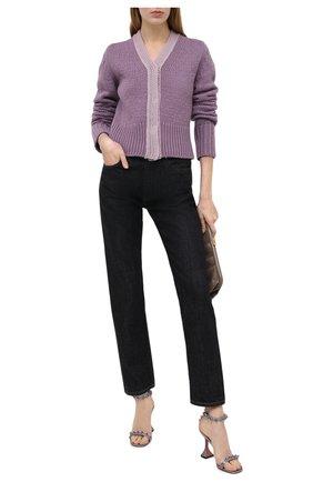Женские кожаные босоножки julia AMINA MUADDI серебряного цвета, арт. JULIASANDAL/H0L0GRAM/SILVER   Фото 2