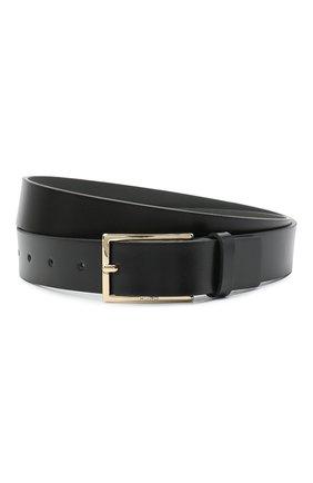Мужской кожаный ремень HUGO черного цвета, арт. 50447219 | Фото 1