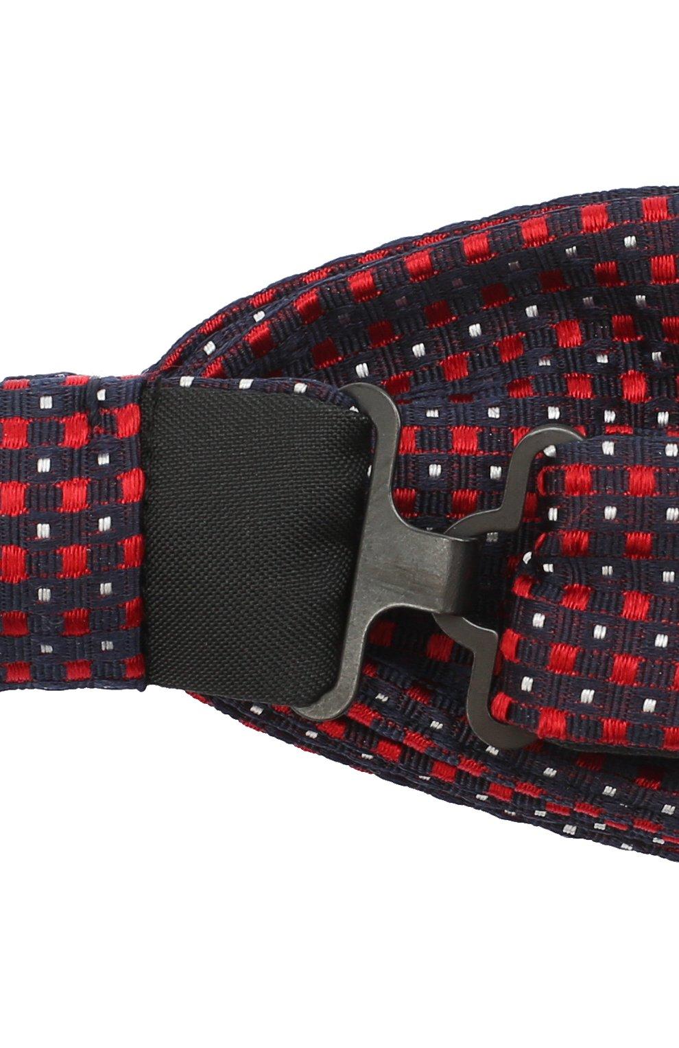 Мужской шелковый галстук-бабочка BOSS красного цвета, арт. 50447046   Фото 3