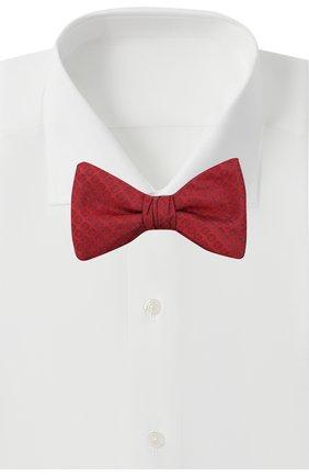 Мужской шелковый галстук-бабочка HUGO красного цвета, арт. 50447358 | Фото 2