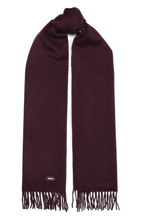 Мужской кашемировый шарф ZILLI бордового цвета, арт. MIU-ALIZE-40825/0003 | Фото 1