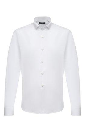 Мужская хлопковая сорочка BALMAIN белого цвета, арт. VH1HU025/T006 | Фото 1 (Рукава: Длинные; Материал внешний: Хлопок; Длина (для топов): Стандартные; Стили: Классический; Рубашки М: Classic Fit; Воротник: Бабочка)