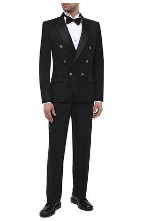 Мужская хлопковая сорочка BALMAIN белого цвета, арт. VH1HU025/T006 | Фото 2 (Рукава: Длинные; Материал внешний: Хлопок; Длина (для топов): Стандартные; Стили: Классический; Рубашки М: Classic Fit; Воротник: Бабочка)