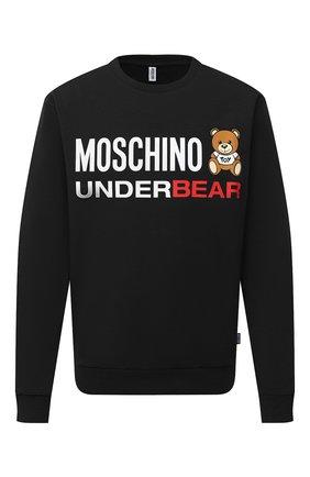 Мужской хлопковый свитшот MOSCHINO черного цвета, арт. A1701/8106 | Фото 1