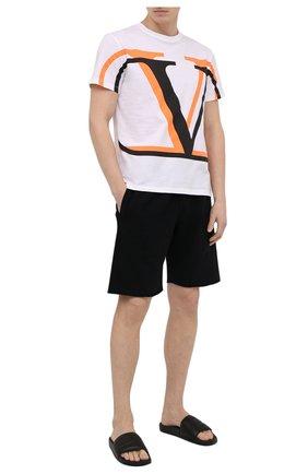 Мужские кожаные шлепанцы HERON PRESTON черного цвета, арт. HMIC001R21LEA0011010 | Фото 2 (Материал внутренний: Натуральная кожа)
