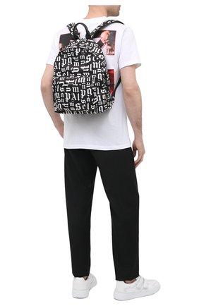 Мужской текстильный рюкзак PALM ANGELS черного цвета, арт. PMNB008R21FAB0011001 | Фото 2
