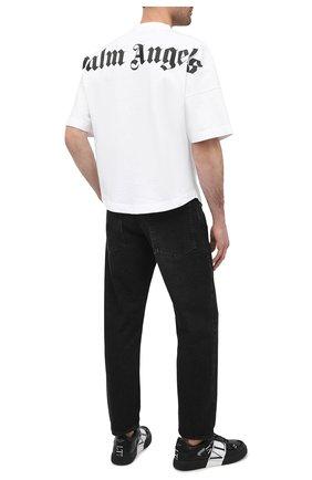 Мужская хлопковая футболка PALM ANGELS белого цвета, арт. PMAA002R21JER0010110 | Фото 2 (Длина (для топов): Стандартные; Материал внешний: Хлопок; Рукава: Короткие; Принт: С принтом; Стили: Гранж)