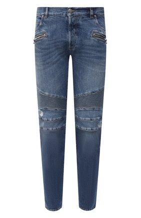 Мужские джинсы BALMAIN синего цвета, арт. VH1MH005/031D | Фото 1