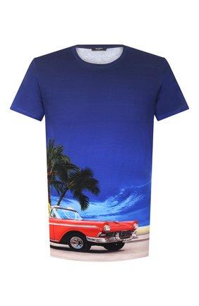 Мужская хлопковая футболка BALMAIN разноцветного цвета, арт. VH1EF000/G003 | Фото 1 (Длина (для топов): Стандартные; Стили: Кэжуэл; Материал внешний: Хлопок; Принт: С принтом; Рукава: Короткие)