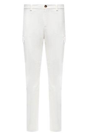 Мужские хлопковые брюки-карго BRUNELLO CUCINELLI белого цвета, арт. M261DS2160 | Фото 1