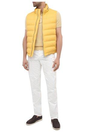 Мужские хлопковые брюки-карго BRUNELLO CUCINELLI белого цвета, арт. M261DS2160 | Фото 2