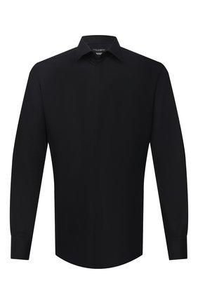 Мужская хлопковая сорочка DOLCE & GABBANA черного цвета, арт. G5GE6T/FJ5GG | Фото 1