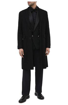 Мужская хлопковая сорочка DOLCE & GABBANA черного цвета, арт. G5GE6T/FJ5GG | Фото 2