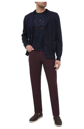 Мужской хлопковый кардиган BRUNELLO CUCINELLI синего цвета, арт. M2872711 | Фото 2 (Длина (для топов): Стандартные; Материал внешний: Хлопок; Рукава: Длинные; Мужское Кросс-КТ: Кардиган-одежда; Стили: Кэжуэл)
